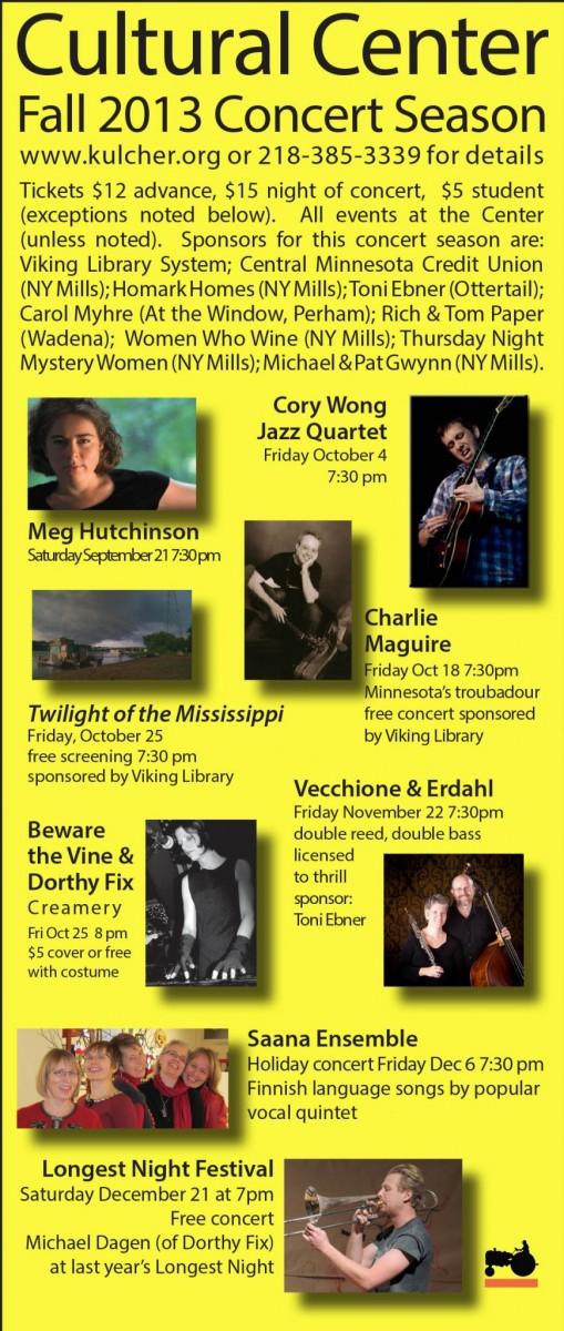 2013 Concert Schedule