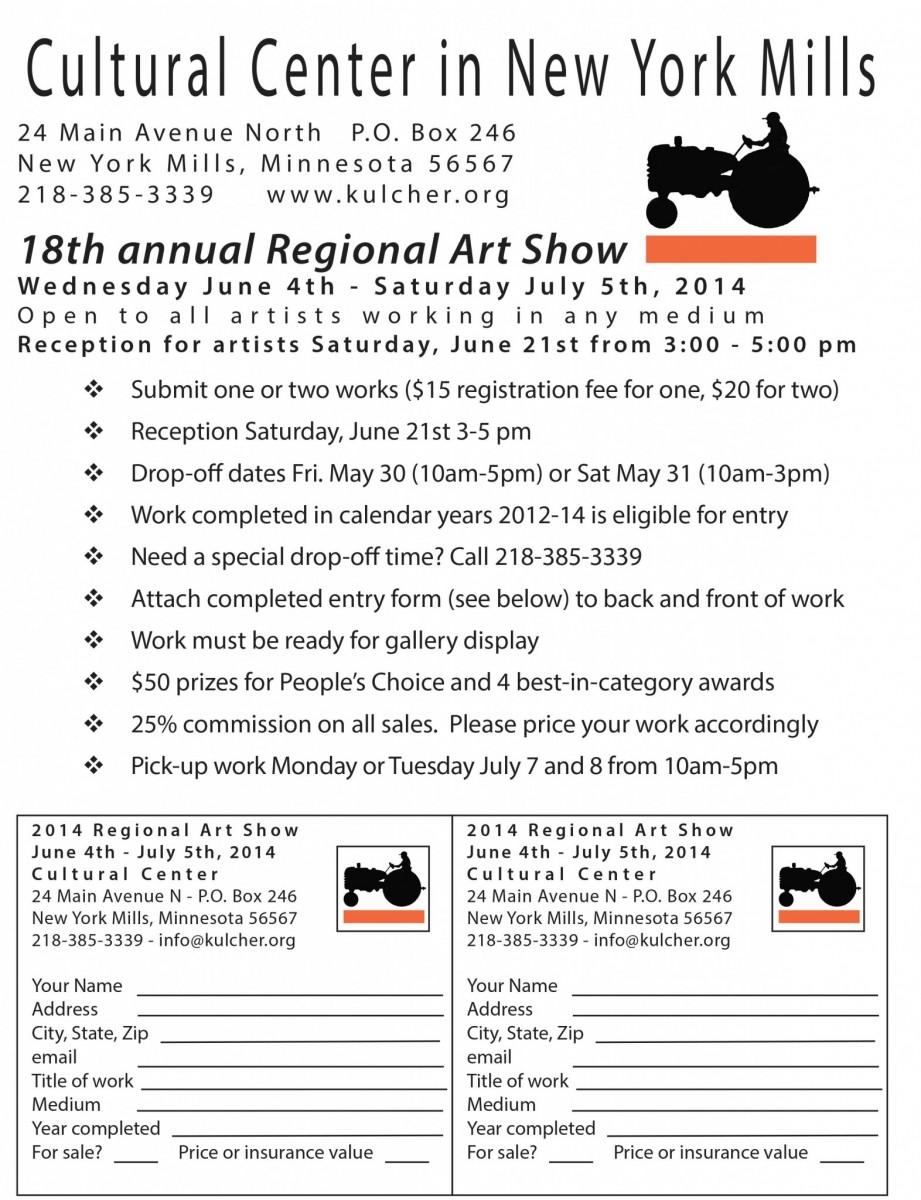 Regional Show call