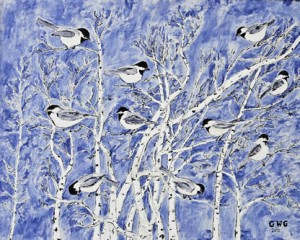 "George Gloege ""Birds on Birch"""
