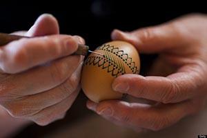 Slovakian egg decorating