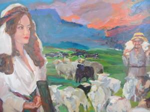 Detail of painting by Ellen Jean Diederich