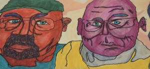 Cubist Face Two Men