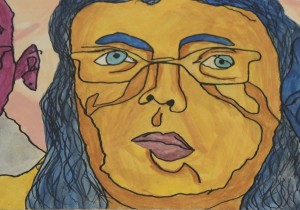 Cubist Face Yellow