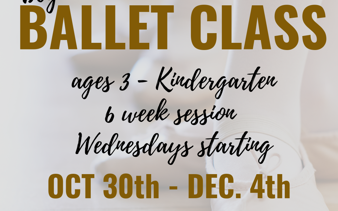 Intro to Ballet Class at the Cultural Center