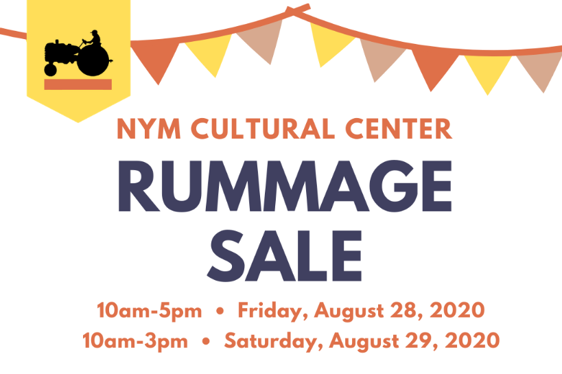Rummage Sale August 28 & 29, 2020